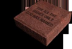 A sample 8x8 garden brick